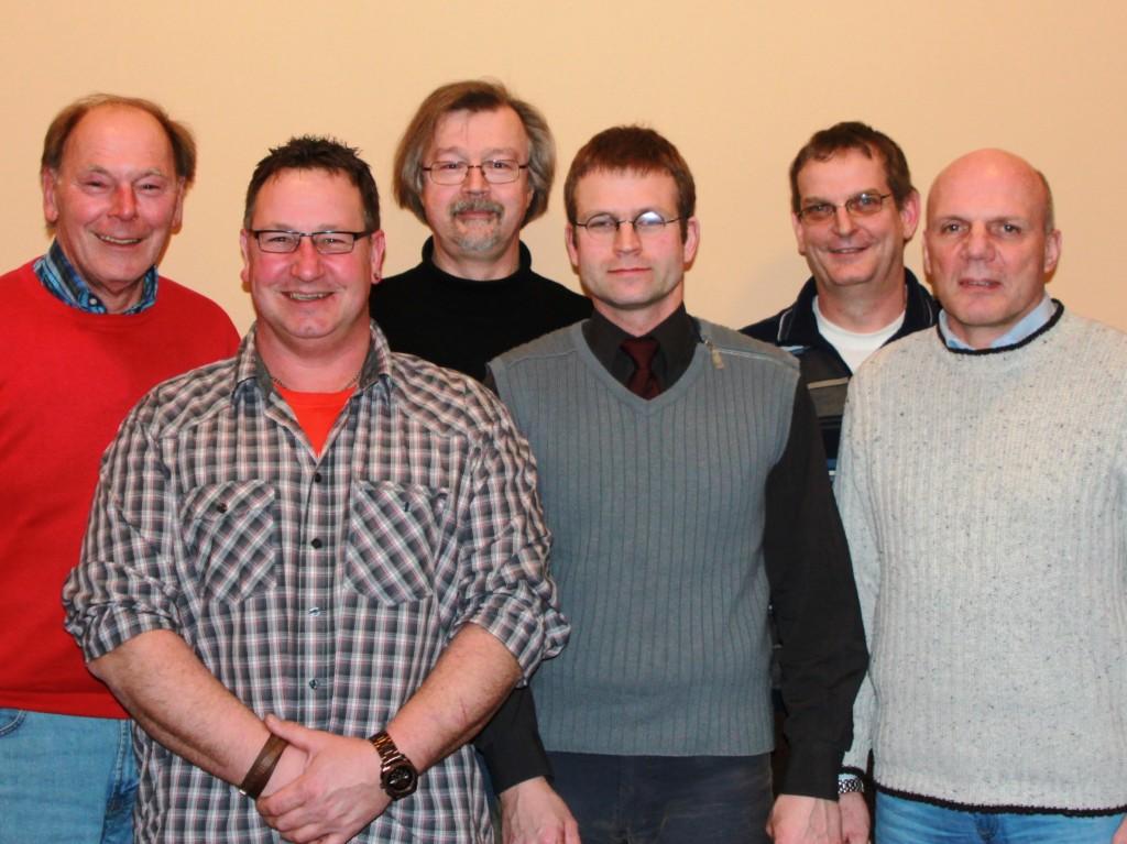 Bild  - v.l.n.r. : Hans-Jürgen Griese, Michael Kleindienst, Jörg Lehmann, Bastian Wortmeier, Olaf Lucas, Frank Abromeit