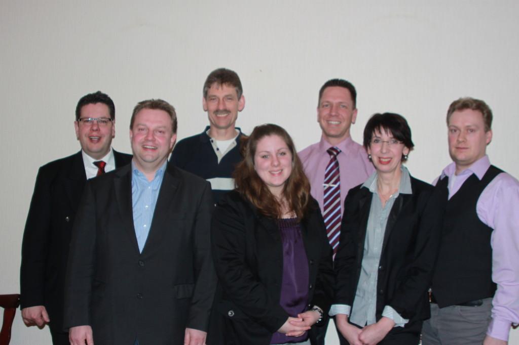 v.l.n.r. Claus Dieck, Carsten Wittern, Thomas Stürwohld, Doreen Dieck, Mathias Warn, Doris Schümann, Daniel Jahnke