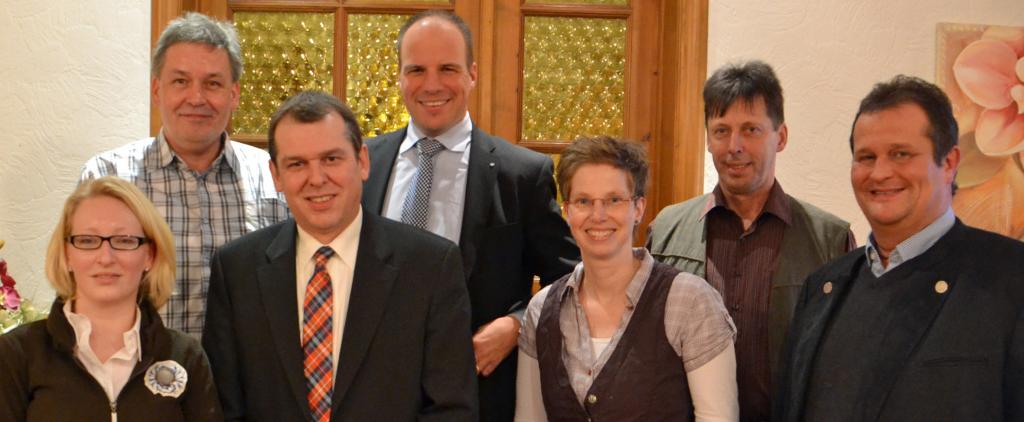 CDU-Direktkandidaten in Leezen:  (vlnr.) Constanze Kappe, Dirk Stüven, Andreas Krohn, Stefan Lohmeier, Birgit Hildebrandt, Klaus Stolten, Torsten Tilly.