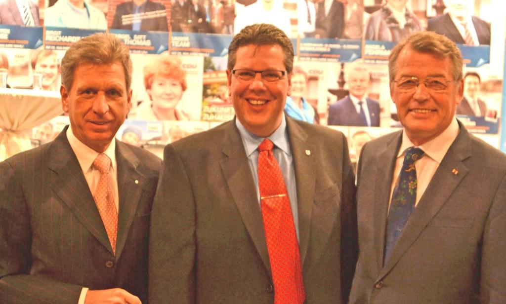 Gemeinsam für unsere Kommunen v.l.n.r. Bernd Jorkisch, Claus Peter Dieck und Reimer Böger